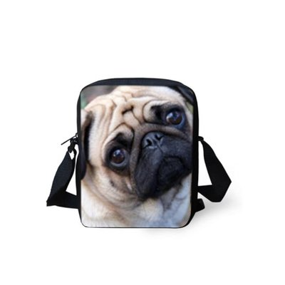 For U Designs Mini Messenger Bag Pug
