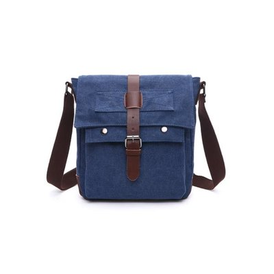 Canvas Messengerbag Manaslu Blauw