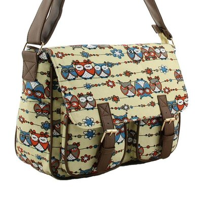 Canvas Messenger Bag Uilen