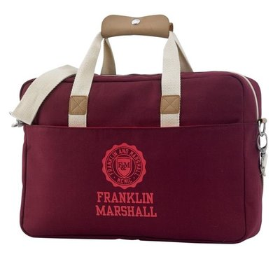 "Franklin & Marshall - Schoudertas met 15"" laptopvak - Solid"