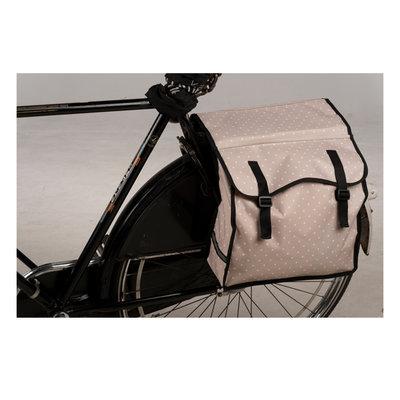 Bicycle Gear Dubbele Fietstas Zand met Stippen
