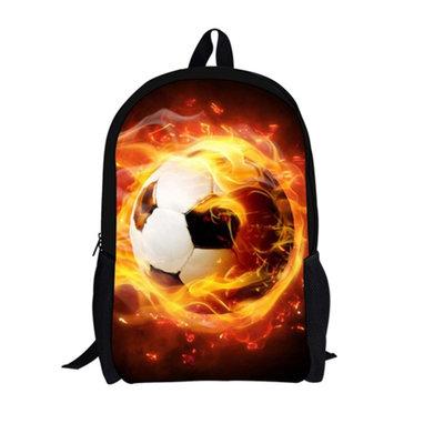 d6db7b3a71a For U Designs Rugzak Voetbal Football Socker Fire Vuur Goedkope Schooltas  Rugtas - reitontassen