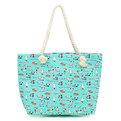 Art of Polo Canvas Strandtas Shopper Poes Aqua