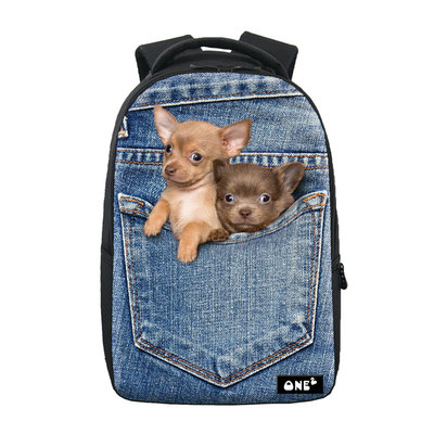 Rugzak One2 Jeans Puppy Chihuahua
