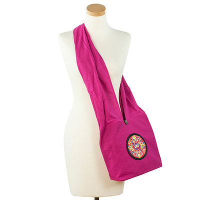 Art of Polo Cross Body Mandala Tas Fuchsia